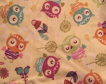 2/3 Yard of Owl Fabric