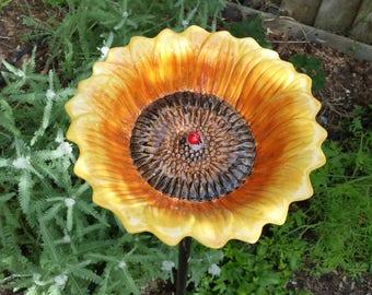 Sunflower Bird Feeder or Bath