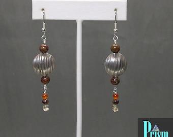 Earth Toned Dangle Earrings