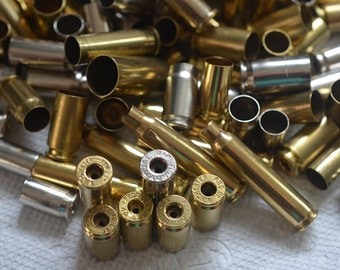 Wholesale Lot of 100 assorted bullet shell casings with a single hole on the end for jewelry and craft making. Bullet pendants...Lot 2
