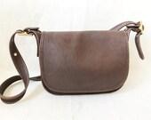 Vintage COACH Brown Leather Messanger Bag Purse