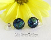 Glass Stud Earrings, Fuse...
