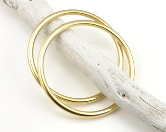 1 Piece Solid Seamless Ring Large 35mm Open Frame Hoop Nunn Design Antique Gold Ring Pendant Gold Pendant Charm Circle Pendant Modern