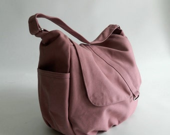Pale Pink diaper bag,girl Cross body bag, women shoulder bag,canvas school bag,Handbag for mom / Sale 30% - no.18 -DANIEL