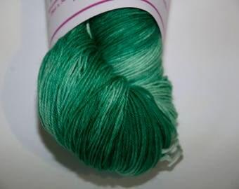 Hand-Dyed Yarn in Emerald Isle Colourway Sock Yarn Superwash Wool/Nylon Tootsie Base