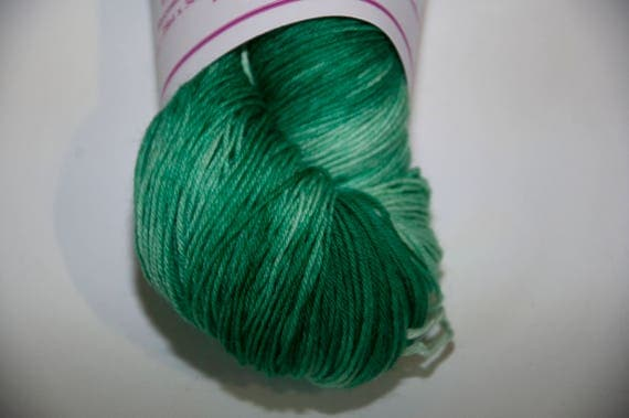 Hand-Dyed Yarn in Emerald Isle Colourway Sock Yarn Superwash Wool/Nylon Tootsie Base