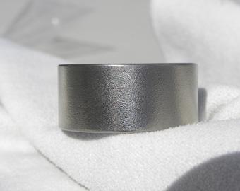 Titanium Ring, Wedding Band, 13mm, size 10, Burnished Finish, Clearance Listing