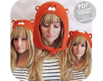 crochet pattern - umaru chan - 3 pack of umaru chan anime inspired hamster hats - slouchy beanie beret hoot - himouto umaru chan