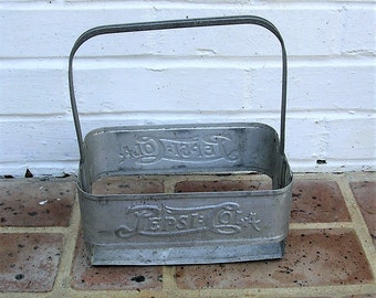 Vintage Metal Pepsi Cola Bottle Carrier Vintage Pepsi Bottle Carrier
