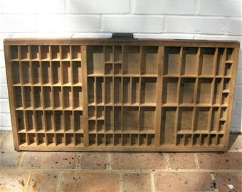 Antique Vintage Hamilton Printers Wooden Tray Antique Vintage Hamilton Printers Drawer Shadow Box Letterpress Tray 89 Sections