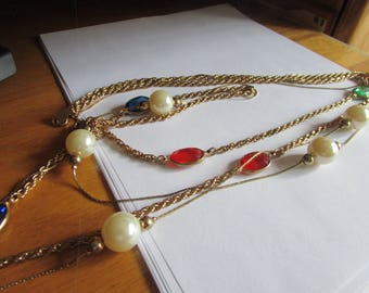 window pearl chain necklace