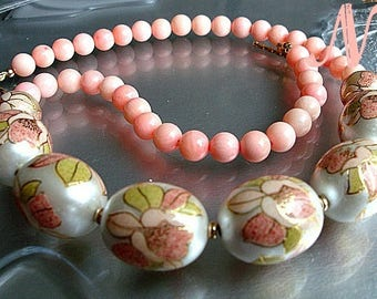 Japanese Tensha Coral Necklace