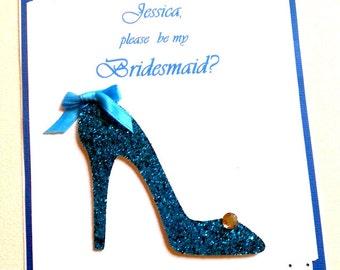 Will you be my Bridesmaid,Bridesmaid Card,You be my Bridesmaid,Wedding Party Card,Shoe Invitation