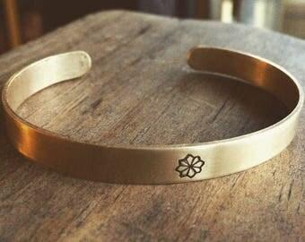 BOHO BANGLE brass handforged bracelets