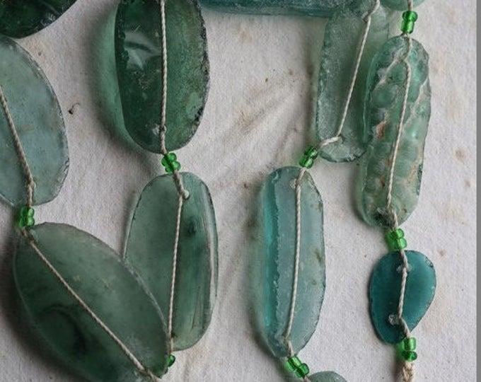 ANCIENT ROMAN GLASS No. 246 .. Genuine Antique Roman Glass Fragment Beads (rg-246)