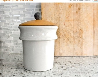 Sale Stoneware Crocks, Kitchen Canister, Utensil Holder, Bathroom Decor
