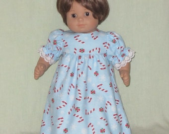 American Girl Bitty Baby Dolls Nightgown Candy Canes