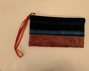 African Indigo Wallet Wristlet | FARMHOUSE