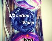 Double Take Scarf Weaving Kit-Two scarves one warp-Handmade-Handwoven-Rigid heddle loom- Floor loom-Table loom-weaving