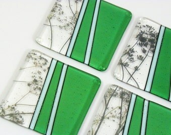 fused glass coasters etsy. Black Bedroom Furniture Sets. Home Design Ideas
