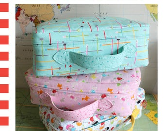 PATTERN Mini TRAVELING SUITCASES or Storage Containers