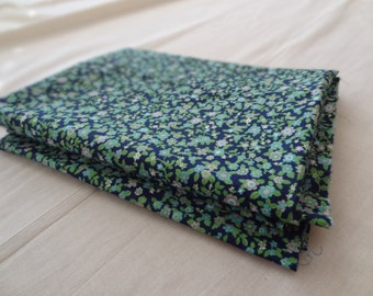 Vintage Tiny Floral Fabric. Blue. Green. Lavender.