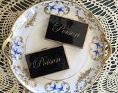 Poison ~ Vintage 1950's Purse Size Pill Box Compact Upcycled