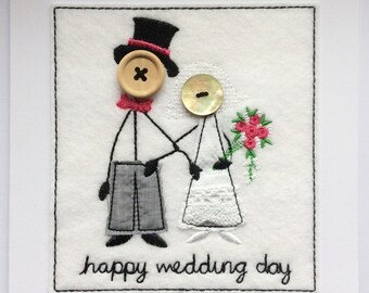Wedding Card - Mr & Mrs Embroidered
