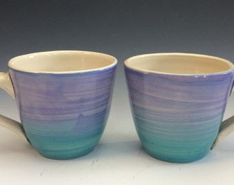 Teal and Lavender Mug