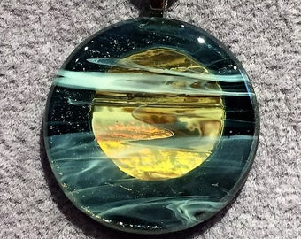 Full Moon Pendant  One Of A Kind