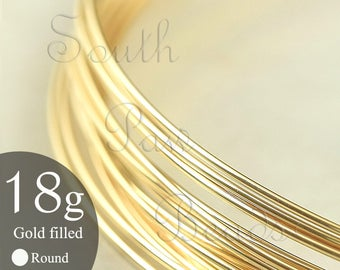 1/4 troy oz 14K Gold Filled Round Wire Gold Filled Wire 18 gauge dead soft 14/20 Yellow gold filled round wire, approximately 3.5 feet