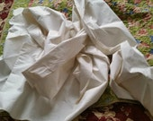 Antique Pillowcase Fabric Roll, white cotton 6 yds, bedding vintage supply