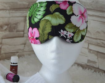 Hawaiian Hibiscus Eye Mask for Sleep, Travel, etc. ~ READY TO SHIP for Teachers, Friends, Birthdays, All Occasion Gifts