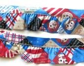 Custom Order. Raggedy Ann & Andy Ruffled Edging / Ruffle Trim / Sewing Notions / Cotton Novelty Print