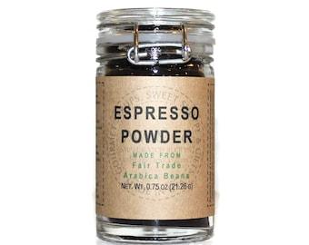 Espresso Powder, Made from Fair Trade Arabica Beans