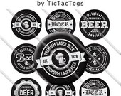 Chalkboard Beer Retro Sayings Bottle Cap Images 1 Inch Circles Digital JPG - Instant Download - BC560