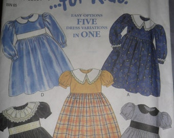 New Look Pattern #6791 for making Girls Dress in sizes 2 thru 7