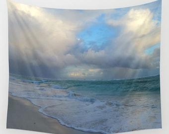 Wall Tapestry Wall Hanging Sofa Throw Photo 21 Beach Sea Ocean Home Decor L.Dumas