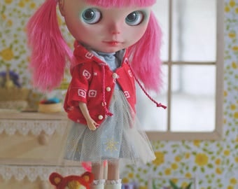 Patterns and English Instructions of HoodedJacket & Turtle neck dress for Blythe
