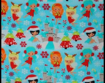 Fairies winter 1/2 yard cotton lycra knit 1 yard
