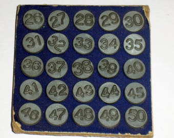 Vintage Arco Number Tacks - Window and Screen markers - Numbers 26-50 for Crafting