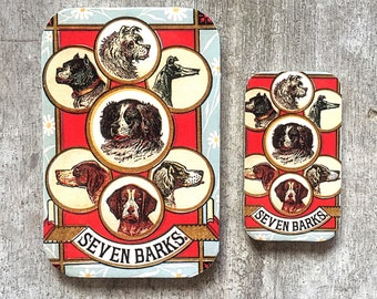 Dog tin LARGE,  Notions tin