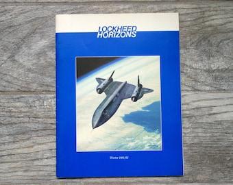 Vintage Aircraft Magazine, Lockheed Horizons Winter 1981/82 Issue 9, SR-71 Blackbird, Electric Airplane, Compound Helicopter, P-38 Lightning