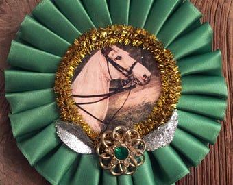 Green Upcycled Decorative Kentucky Horse Ribbon