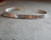 Custom latitude longitude sterling silver bracelet, gps coordinates, favorite place, special place, create your own, meaningful, personalize