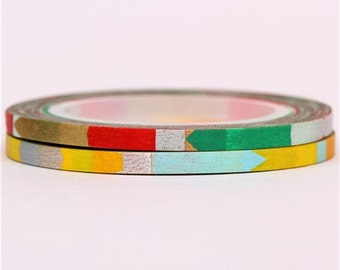 181988 very slim mt Washi Masking Tape deco tape with patterns