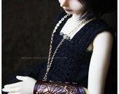 ABJD Dollfie MNF Minifee and Unoa Leather and Metal Bracer Shell