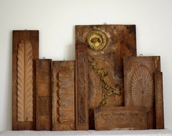 Antique Wood Plaster Architectural Foundry Factory Molds Vanderbuilt Mansion Industrial Salvage