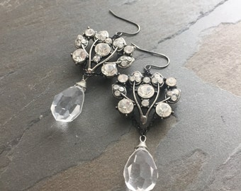 SOPHIE-Ornate Rhinestone & Swarovski Crystal Earrings