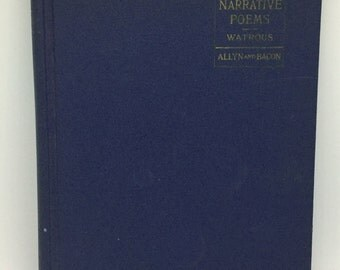 Three Narrative Poems vintage book Watrous 1967 Tennyson Coleridge Arnold